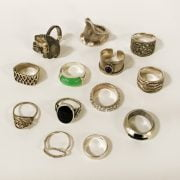 COLLECTION OF SILVER JEWELLERY
