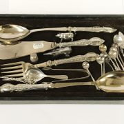QTY HM SILVER SPOONS - SOME EARLY