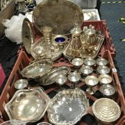 QTY. OF SILVER PLATED ITEMS - 2 TRAYS