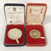 FOOTBALL ASSOCIATION DOUBLE CHAMPIONS COMMEMORATIVE MEDAL IN SILVER