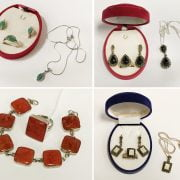 COLLECTION OF SILVER & GEMSTONE JEWELLERY