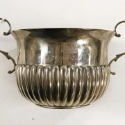 HM SILVER TWIN HANDLED SUGAR BOWL