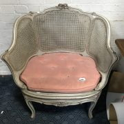 FRENCH BERGERE TUB CHAIR