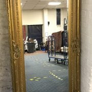 LARGE GOLD MIRROR IN GOOD CONDITION - LENGTH 183CM X WIDTH 96CM