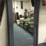 LARGE GREY MIRROR IN GOOD CONDITION - LENGTH 183CM X WIDTH 96CM