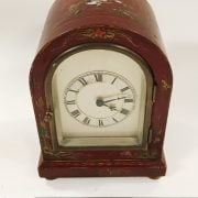 RED CHINOISERIE MANTLE CLOCK