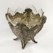 ORNATE 800 SILVER BOWL WITH LINER