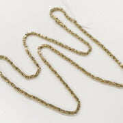 9CT GOLD SQUARE BYZANTINE LINK CHAIN