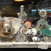 COLLECTION OF CHINA, GLASS & SILVER PLATE - WITH SOME JUDAIC ITEMS