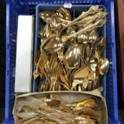 COLLECTION OF JAPANESE GOLD PLATED CUTLERY