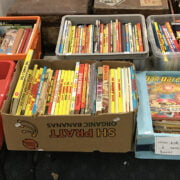 SIX BOXES OF BOOKS