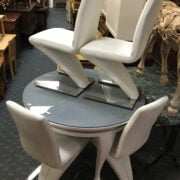 DESIGNER TABLE & FOUR CHAIRS