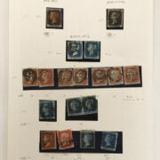 QUEEN VICTORIA STAMPS X 1 PAGE 1840-1857- GOOD CONDITION. GOOD RED MALTESE CROSS & ALSO BLACK MALTESE CROSSES