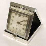 HM SILVER BIRMINGHAM 1936 TRAVEL CLOCK