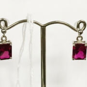 9CT WHITE GOLD RUBY STUD EARRINGS
