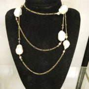 LADIES LARGE BAROQUE PEARL NECKLACE