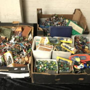 COLLECTION OF MODEL FIGURES & MARBLES