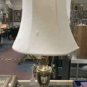 FRENCH VIENNA STYLE GILT LAMP