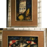 TWO STILL LIFES BY PIERRE MAS IN SEVENTIES FRAMES