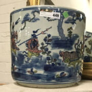 CHINESE BLUE & WHITE PLANTER - APPROX. 30CM