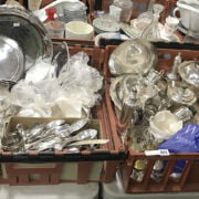 TWO TRAYS OF SILVER PLATE INCL. MAPPIN & WEBB