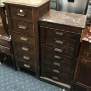 TWO SLIMLINE CHESTS OF DRAWERS