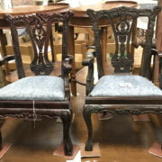 TWO SMALL CHIPPENDALE STYLE CHAIRS