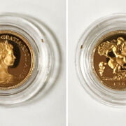 CASED 1980 HALF SOVEREIGN  - PROOF CONDITION