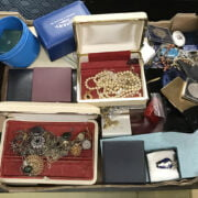 QTY OF COSTUME JEWELLERY & COINS