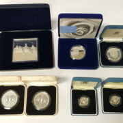 SELECTION OF SILVER COINS & INGOTS
