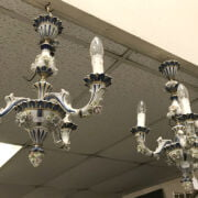 TWO PORCELAIN CHANDELIERS - 1 A/F