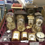 TRAY OF CLOCKS