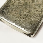 HM SILVER BUSINESS CARD HOLDER - 44 GRAMS