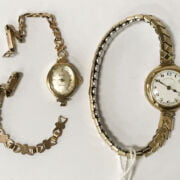 9CT GOLD LADIES WATCH & 1 OTHER