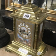 FRENCH BRASS MANTLE CLOCK - 35CMS
