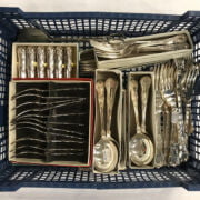 COLLECTION OF KINGS PATTERN CUTLERY