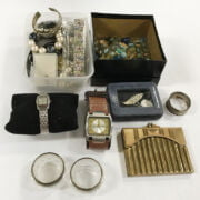 INTERESTING COLLECTION LIGHTERS, COINS, SILVER