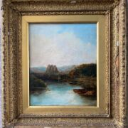 GEORGE VICAT COLE 1833-1892 ''RIVER VIEW IN THE HIGHLANDS'' SIGNED WITH INI...