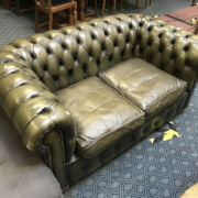 TWO SEATER GREEN CHESTERFIELD