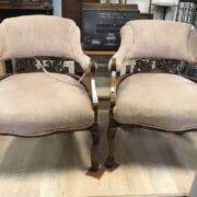 2 VICTORIAN CARVED CHAIRS