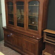 VICTORIAN STYLE CHERRYWOOD BOOKCASE CABINET