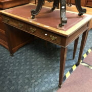 LEATHER TOP WRITING TABLE