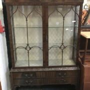 ASTRA GLAZED DISPLAY CABINET WITH 4 DRAWERS