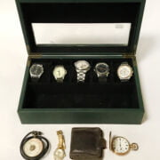 SIX GENTS WATCHES & OTHER WATCH IN BOX