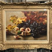 NATHALIE SCHULTHEISS 1865-1952 OIL ON CANVAS STILL LIFE - GOOD CONDITION - ...