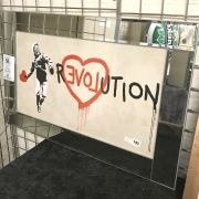 BANKSEY STYLE  ''REVOLUTION'' PICTURE - 86CMS X 56CMS