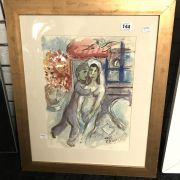 FRAMED PICTURE AFTER MARC CHAGALL - 48CMS X 38CMS