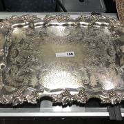 JAYS OF OXFORD ST SILVER PLATE TRAY - 62CMS X 39CMS