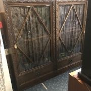 PAIR GLAZED 1930'S CABINETS
