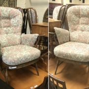 PAIR OF ERCOL SPINDLE BACK ARMCHAIRS - FAIR CONDITION